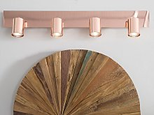 Ceiling Track Lamp 4 Lights Copper Metal