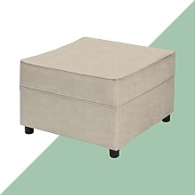 Ceja Footstool Hashtag Home Upholstery: Cream