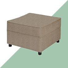 Ceja Footstool Hashtag Home Upholstery: Grey