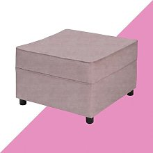 Ceja Footstool Hashtag Home Upholstery: Lilac