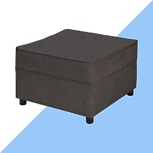 Ceja Footstool Hashtag Home Upholstery: Pewter