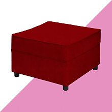 Ceja Footstool Hashtag Home Upholstery: Red