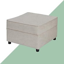 Ceja Footstool Hashtag Home Upholstery: Silver