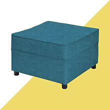 Ceja Footstool Hashtag Home Upholstery: Teal