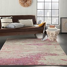 Celestial CES02 Ivory Pink Rectangle Funky Rug