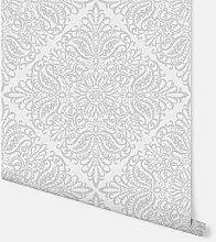 Celestial White & Silver Wallpaper 256801 -