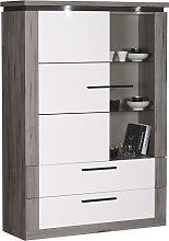 Celestine Display Cabinet In White And Dark