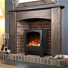 Celsi Electric Stove Heater Fireplace Black Flame