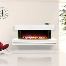 Celsi Electriflame Electric Fire White Fireplace