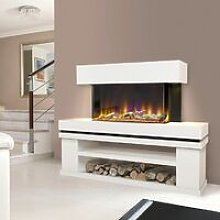 Celsi Freestanding Elecrtic Fire Fireplace Remote