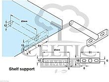 Celtic Timber T Type 65mm long Floating Shelf