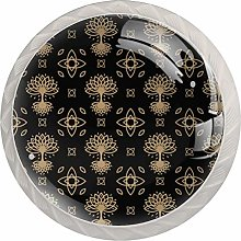 Celtic Tree Drawer Round Knobs Cabinet Pull