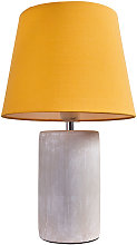 Cement Base Table Lamp Lounge Light Shades LED