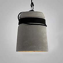 Cement Pendant Light, Terrazzo Lampshade + Rope