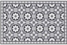 Cement Tile Print Vinyl Place Mat
