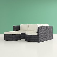 Ceniceros L-Shaped 5 Seater Rattan Sectional Sofa Set Hashtag Home