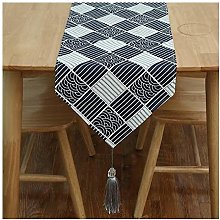 Cenliva Table Runner Luxury Black, Party Table
