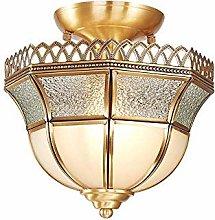 CENPEN Modern Lighting LED Copper Glass Lace Round