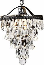 CENPEN Pendant Lights, Crystal Iron Chandelier,