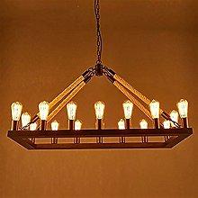 CENPEN Pendant Lights, Loft Retro Hemp Rope
