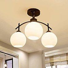 CENPEN Plastic Lampshade/Metal 3 Round Lamp Led