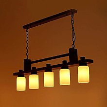 CENPEN Rectangle Wood Metal Pendant Light Kitchen