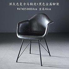 CENPEN Saddle leather chair back single fashion