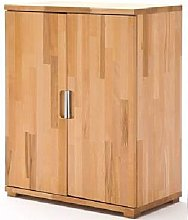 Cento Solid Core Beech Low Board Storage Cabinet