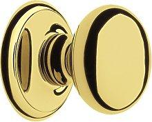 Centre Door Knob in Everbrite Heritage Brass