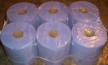Centrefeed Roll 2ply Blue 6 x 150 Metres