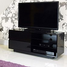 Century TV Stand In Black High Gloss With Two