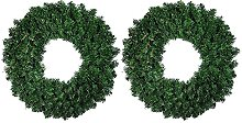 CENZY 2 Pcs 30cm Artificial Pine Wreath Garland