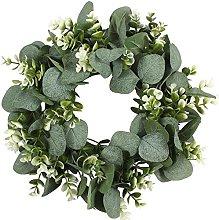CENZY 2pcs Christmas Wreath Artificial Green