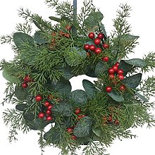 CENZY 30CM Christmas Front Door Wreath Simulation