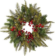 CENZY Christmas Red Berry Wreath Festival Garland