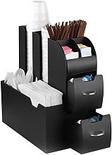 CEP Coffee Condiment and Accessory Caddy, Black