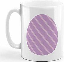 Ceramic Coffee Mug 11 Ounces Straight Lines Egg
