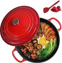 Ceramic cooking pot Cast Iron Pot with Lid 26Cm