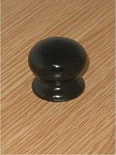 Ceramic Cupboard Knob Black 35mm - S3574 - Securit