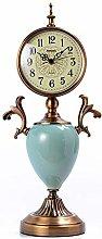 Ceramic decoration Mantle Clock Non-slip base Desk