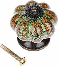 Ceramic Door Knob Antique Pumpkin for Cabinets