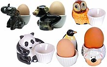 Ceramic Egg Cup Set Animals Animal Farm Ensemble