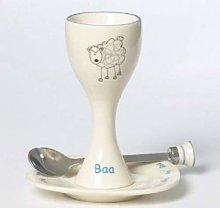 Ceramic Egg Cup Set - Baa - Sheep