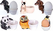 Ceramic Egg Cup Set for Dogs Animals Farm Family
