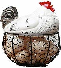 Ceramic Egg Holder Chicken Wire Egg Basket Fruit