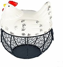 Ceramic egg holder chicken wire egg basket fruit