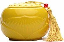 Ceramic Funeral Ashes Urn Tea Caddy Jar Airtight
