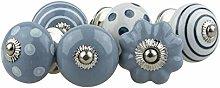Ceramic Furniture Knobs Assorted Set 6pcs 074GN