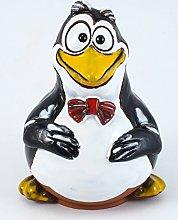 Ceramic garden decoration Happy penguin