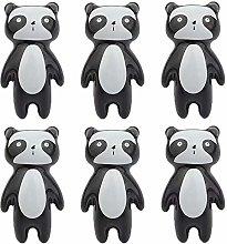 Ceramic Knobs, FBSHOP(TM) 6Pcs Ceramic Panda Knobs